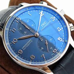 N厂手表 IWC 万国 Portugieser Chronograph 葡萄牙计时腕表(葡计) IW371491 蓝盘 - N厂最高品质版本