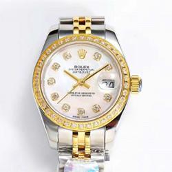 NOOB厂 定制款 劳力士 279383RBR 日志型系列 女装 黄金镶钻 腕表 - 最高品质版本