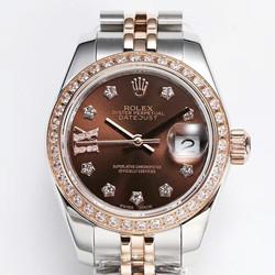 NOOB手表 劳力士 279381RBR 女装日志型系列 28系列价格 巧克力 最高品质版本