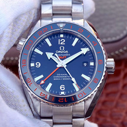 NOOB厂 欧米茄 海马系列 海洋宇宙600米复刻表价格 232.30.44.22.03.001 蓝面 双时区GMT 最高品质版本