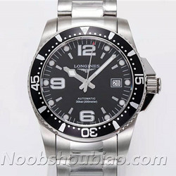 N厂 浪琴手表 运动系列 HYDROCONQUEST 康卡斯潜水系列 L3.642.4.56.6 黑盘 - 最高品质版本
