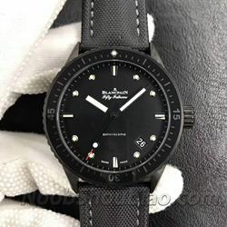 N厂手表 宝珀 Bathyscaphe 五十噚系列 5000-1110-B52AN 缎面磨砂黑色陶瓷 - 最高品质版本