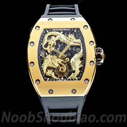 N厂 RICHARD MILLE 理查德 米勒 RM057 成龙纪念版 陀飞轮 金色盘 - 最高品质版本