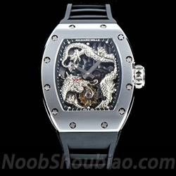 N厂手表 RICHARD MILLE 理查德 米勒 RM057 成龙纪念版 陀飞轮 银色龙盘 - 最高品质版本