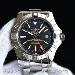 N厂 百年灵 复仇者二代世界时间腕表系列 A3239011|G778|437X|A20BA.1 黑盘 - 最高品质版本