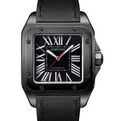 NOOB手表 卡地亚 SANTOS 100 山度士 黑武士 WSSA0006 桑托斯 碳镀层 - 最高品质版本