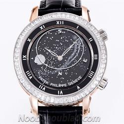 NOOB手表 百达翡丽星空 超级复杂功能计时系列 5102系列 5102PR 镶钻 - 最高品质版本