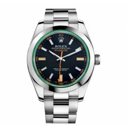 N厂 Rolex 劳力士 V8 MILGAUSS 116400-GV-72400 绿玻璃 黑盘 复刻手表价格 最高版本