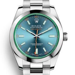 N厂 Rolex 劳力士 V8 904L精钢 MILGAUSS 116400-GV-72400 绿玻璃 蓝盘 复刻表价格 最高版本