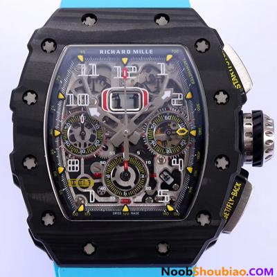 N厂 里查德米尔 RM011-03NTPT 碳纤维 蓝色胶带 复刻手表价格 最高版本