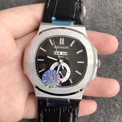 KM厂 百达翡丽 运动系列 皮带 5726/1A-001 鹦鹉螺 一比一复刻手表表价格/图片 最高版本