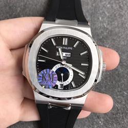KM厂 百达翡丽 运动系列 胶带 5726/1A-001 鹦鹉螺 一比一复刻手表价格/图片 哪个厂做的好?