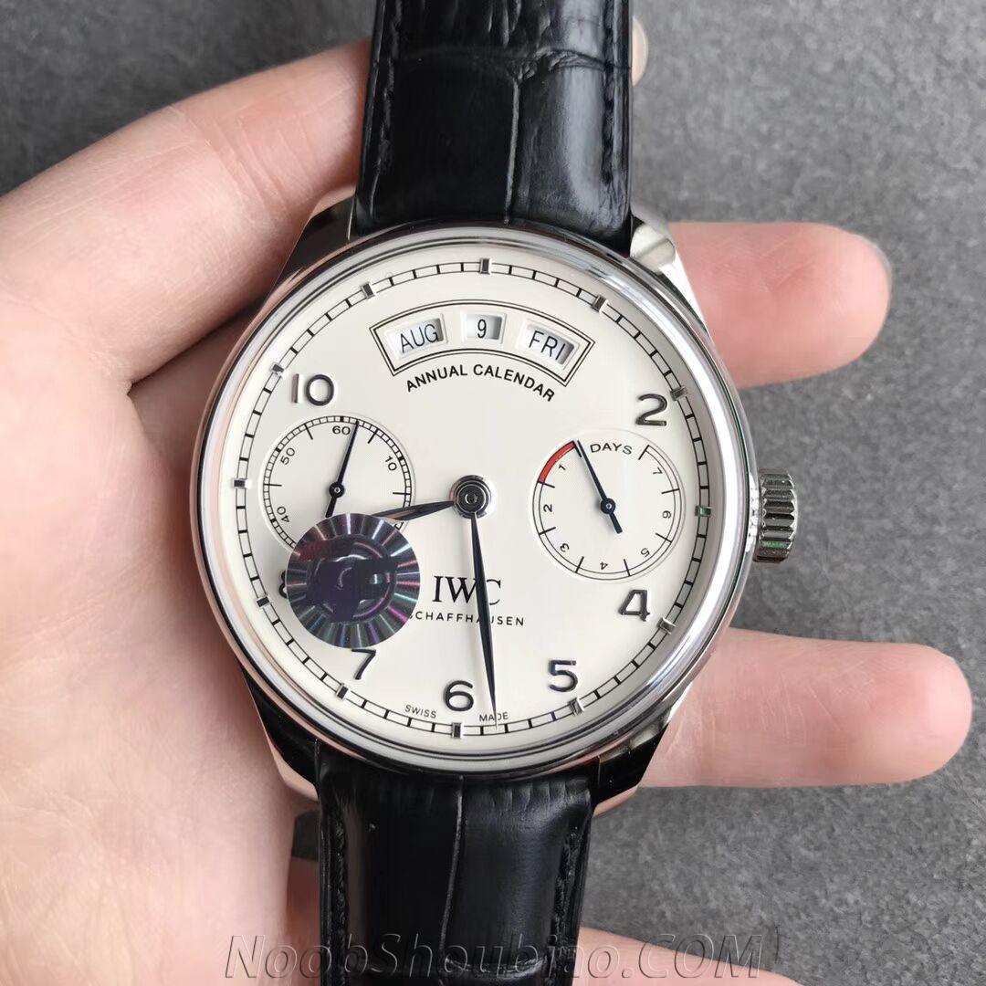ZF厂 V5 万国 葡萄牙7日链系列年历腕表 IW50350 复刻手表价格 最高版本