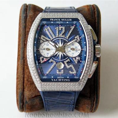 N厂手表 法兰克穆勒 V45 CC DT 蓝色遊艇 一比一复刻手表价格/图片 最高版本