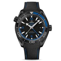 "OMEGA 欧米茄 SEAMASTER 海马系列 PLANET OCEAN 海洋宇宙600米 GMT ""深海之黑""腕表 215.92.46.22.01.002"